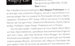 "Reviews of ""Songs of Life"" and ""Under den linden"""