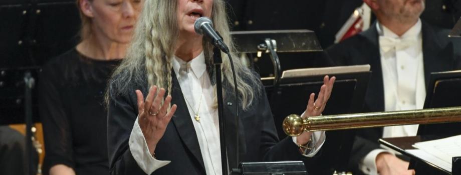 A Transcendent Patti Smith Accepts Bob Dylan's Nobel Prize